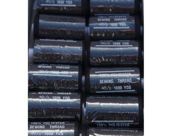 wire black polyester 1000 yards 332