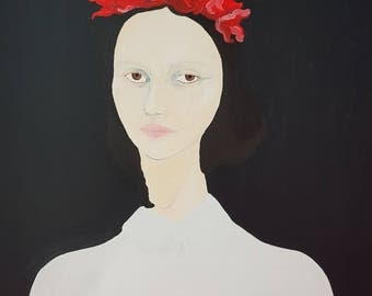 THE FLOWERGIRL abstract portrait