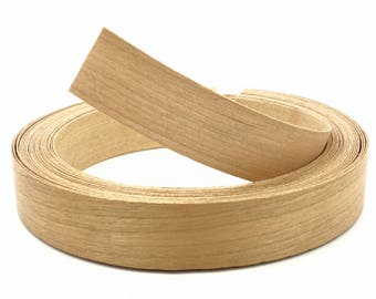 "Cherry Wood Veneer Edge Banding Unfinished Preglued Roll Width 3/4"" 2"" X Length 25' 50' 250'"