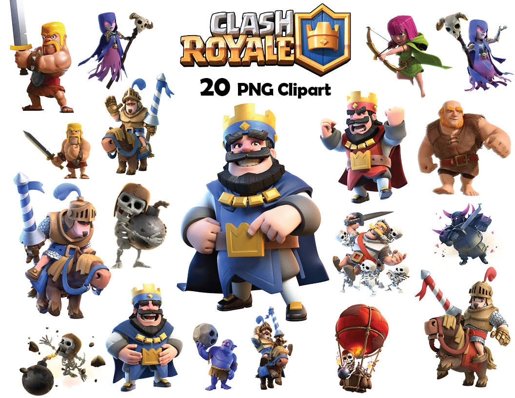 Häufig 20x Clash Royale clipart png DIGITAL file Non personalized DJ13