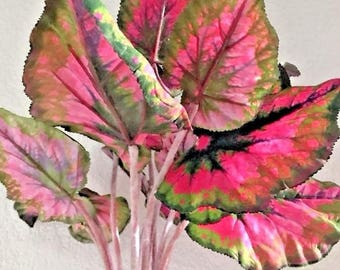 Begonia Bush, Silk Flower Floral Arrangements