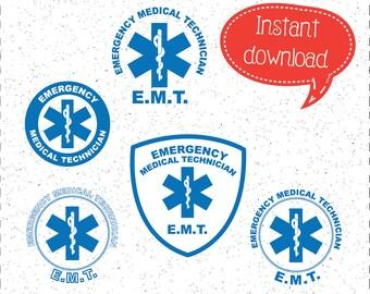 EMT SVGs, EMT SVG, First Responders SVGs, Medic SVGs, Emergency Response SVGs, SVGs, Cricut Cut File, Silhouette File
