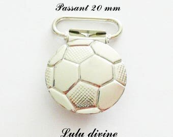 """50 strap, fastener clamps pacifier & cuddly, """"Football"""" """"Soccer ball"""" from 20 mm"""
