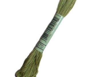 Special 370 stranded wire DMC 370 green herbs de Provence - embroidery FLOSS dmc Mouliné 370 - Echevelle thread dmc mouline 370