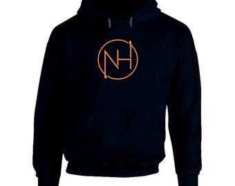 NH Orange and Navy Hoodie