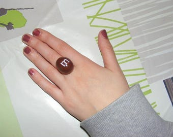 Ring adjustable polymer clay candy