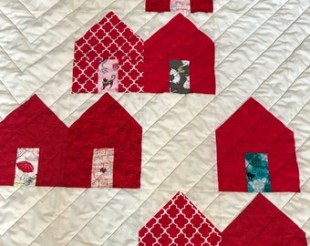Cat House Baby Quilt