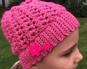 Child's Crotched Slouch Hat (Ages 3-6)