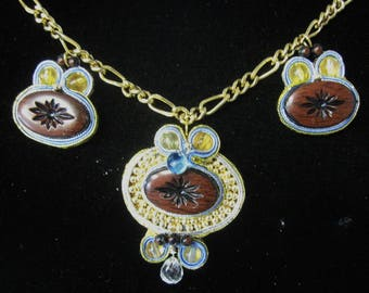 SOUTACHE NECKLACE - Redesigned Costume Jewelry