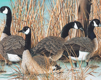Canada Goose panel by Northcott