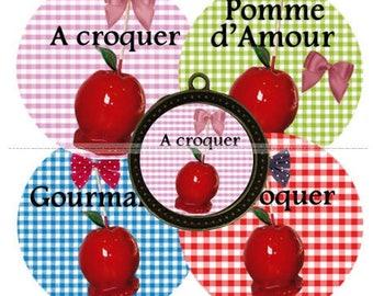 Envoi gratuit ! Images digitales VICHY A CROQUER, pomme d'amour