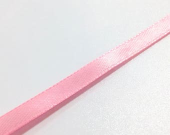 1 meter Ribbon pink 7mm satin ❤ ❤