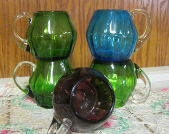 Set of 5  Glass Cups.
