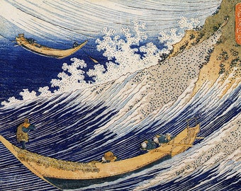SEMI-rigid PLACEMAT, ORIGINAL, AESTHETIC WASHABLE and durable - Hokusai. In the ocean waves.