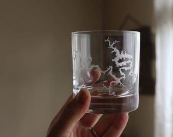 Lake of the Ozarks Whiskey Glass/ Lake Bourbon Glass