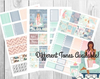 Cozy at home | Printable Planner Stickers / Weekly Kit / Erin Condren