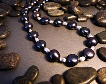 Cultured Freshwater Pearl and Sterling Silver Necklace