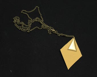 Necklace Angulus mustard and gold