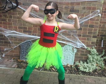 Super hero, Robin Tulle Tutu Halloween Costume