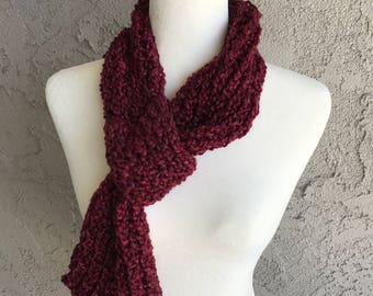 Handmade Knitted / Knitted Scarf / Scarf with Loop - Item #2013