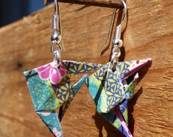 Origami fish earrings