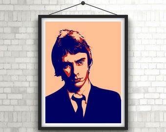 PAUL WELLER  |  The Jam  |  Portrait Art Poster Print