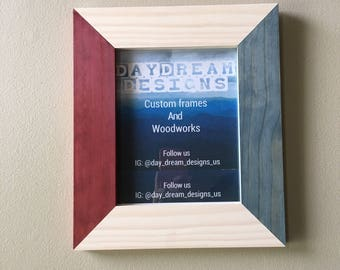 Red, White, and Blue Pine Picture Frames.(multiple sizes)