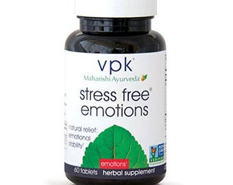 Stress Free Emotions | 60 Herbal Tablets | Anger Management™ | Natural Support for Stress Relief and Emotional Highs and Lows