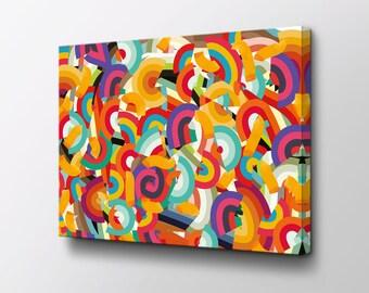 Abstract Art - Canvas Wall Decor - Modern Wall Art - Original design by Epik - Geometric Art - Rainbow Art