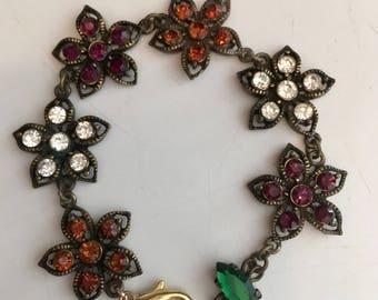 Vintage rhinestone flowers