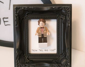 Bow Ties Are Cool! - Eleventh Doctor Framed Custom Minifigure