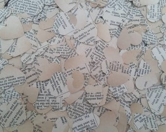 Shakespeare table confetti/Works of Shakespeare decor/Literature wedding/Starcrossed lovers/Wedding table confetti/Elizabethan party decor