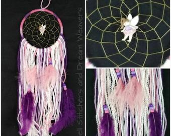 Pink and Purple Fairy Dreamcatcher