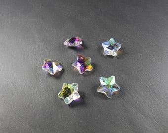 5 star glass pendants approximately 14mm * Christmas tree *.