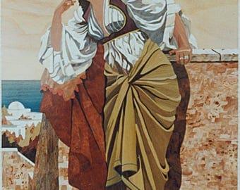 Inlay keepsake oriental 50cm x 40cm