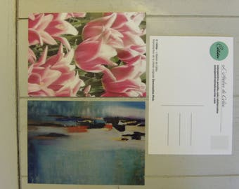 Set of 2 postcards 10.5 x 14.8 cm (5 designs available and other options)