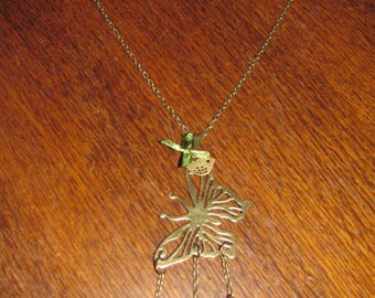 Butterfly and Ribbon necklace