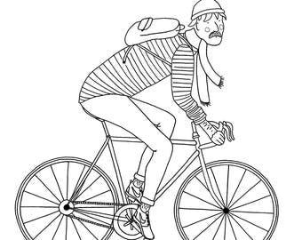 CYCLISTS print