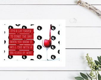 Funny wine greeting card | Everyday card | Friendship card | Blank card | Just for Fun