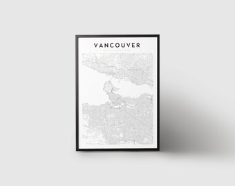 Vancouver Map Print