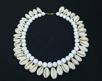BELLA white bohemian necklace