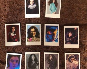 Lorde Polaroids set of 10 mini vintage style
