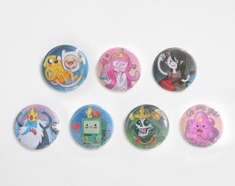 Adventure time - set of 7 badges