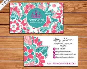 Paparazzi Business Card, Custom Paparazzi Accessories Business Card, Fast Free Personalization, Printable Business Card PZ08
