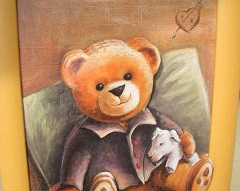 """Frame decorative theme: """"Pooh"""" 3D varnish"""