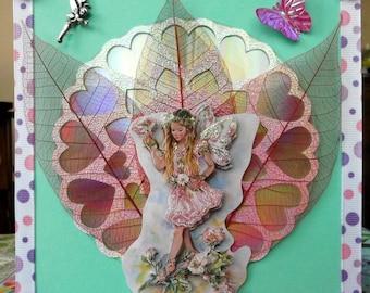 flower fairies on CD and heart cut 3D card