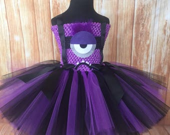 Evil Minion Tutu, Evil Minion Tutu, Evil Minion Costume, Evil Minion Dress, Minion Tutu