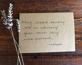 Love by F. Scott Fitzgerald card