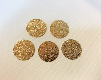 10 sequins 20mm, gold glitter for creations of jewels