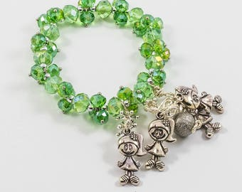 Playing on green fields bracelet